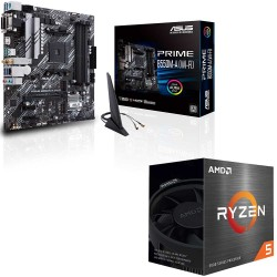 باندل مادربرد ایسوس PRIME B550M-A WI-FI + پردازنده ای ام دی RYZEN5 5600X BOX