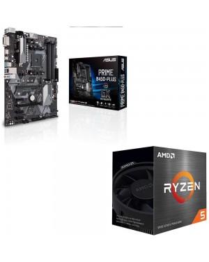 باندل مادربرد ایسوس PRIME B450-PLUS + پردازنده ای ام دی RYZEN5 3600X BOX
