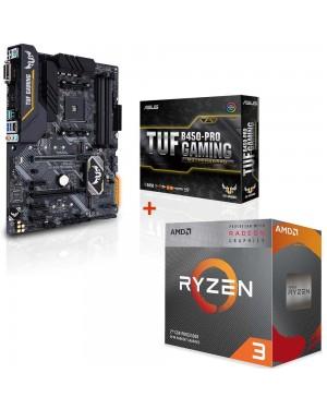 باندل مادربرد ایسوس TUF B450-PRO GAMING + پردازنده ای ام دی RYZEN3 3100