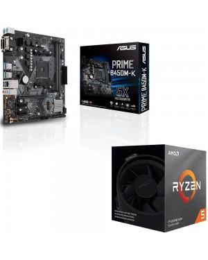 باندل مادربرد ایسوس PRIME B450M-K + پردازنده ای ام دی RYZEN5 3600X