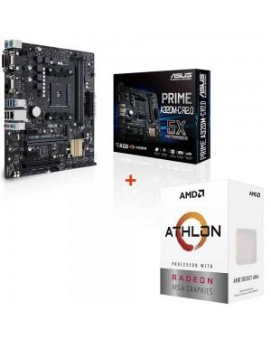 باندل مادربرد ایسوس PRIME A320M-C R2.0 + پردازنده ای ام دی Athlon 3000G