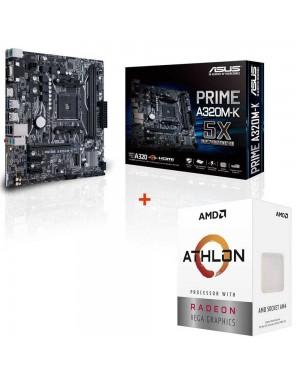 باندل مادربرد ایسوس PRIME A320M-K + پردازنده ای ام دی Athlon 3000G
