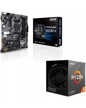 باندل مادربرد ایسوس PRIME A520M-A + پردازنده ای ام دی RYZEN5 3600XT