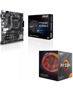 باندل مادربرد ایسوس PRIME A520M-E + پردازنده ای ام دی RYZEN7 3700X