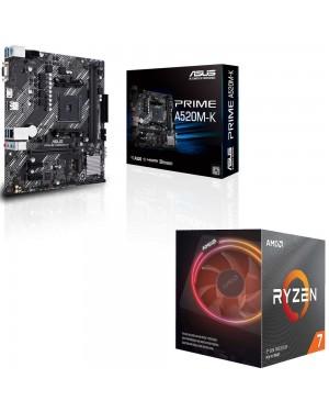 باندل مادربرد ایسوس PRIME A520M-K + پردازنده ای ام دی RYZEN7 3700X
