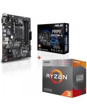 باندل مادربرد ایسوس PRIME B450M-A/CSM + پردازنده ای ام دی RYZEN3 3200G