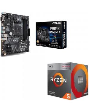 باندل مادربرد ایسوس PRIME B450M-A/CSM + پردازنده ای ام دی RYZEN5 3400G