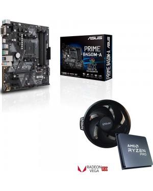 باندل مادربرد ایسوس PRIME B450M-A + پردازنده ای ام دی Ryzen 3 PRO 4350G