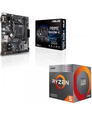 باندل مادربرد ایسوس PRIME B450M-K + پردازنده ای ام دی RYZEN5 3400G