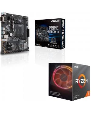 باندل مادربرد ایسوس PRIME B450M-K + پردازنده ای ام دی RYZEN7 3700X