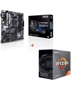 باندل مادربرد ایسوس PRIME B550M-A + پردازنده ای ام دی RYZEN3 3100