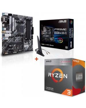 باندل مادربرد ایسوس PRIME B550M-A WI-FI + پردازنده ای ام دی RYZEN3 3100
