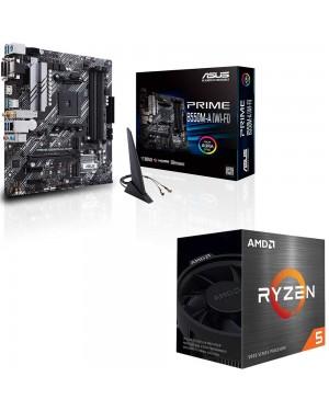 باندل مادربرد ایسوس PRIME B550M-A WI-FI + پردازنده باکس ای ام دی RYZEN 5 5600X