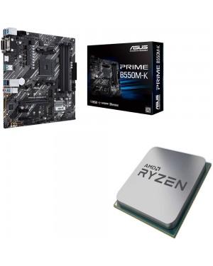 باندل مادربرد ایسوس PRIME B550M-K + پردازنده ای ام دی RYZEN5 3600X Tray