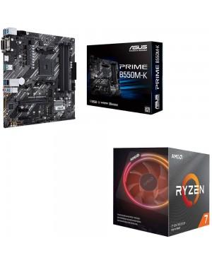 باندل مادربرد ایسوس PRIME B550M-K + پردازنده ای ام دی RYZEN7 3700X