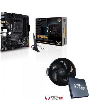 باندل مادربرد ایسوس TUF GAMING B550M-PLUS WI-FI + پردازنده باکس ای ام دی RYZEN 5 PRO 4650G
