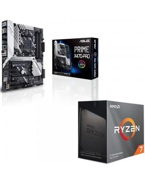 باندل مادربرد ایسوس PRIME X470-PRO + پردازنده ای ام دی RYZEN7 3800XT