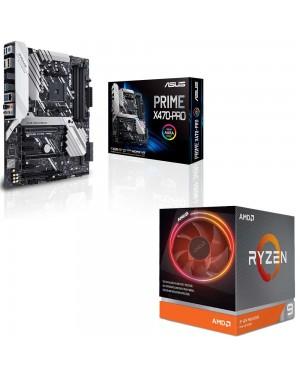 باندل مادربرد ایسوس PRIME X470-PRO + پردازنده ای ام دی RYZEN9 3900X