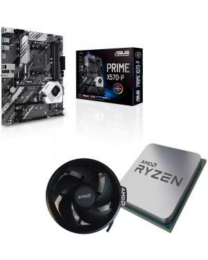 باندل مادربرد ایسوس PRIME X570-P + پردازنده ای ام دی RYZEN 7 3800X TRAY همراه فن اورجینال AMD