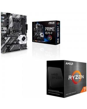باندل مادربرد ایسوس PRIME X570-P + پردازنده ای ام دی RYZEN7 5800X