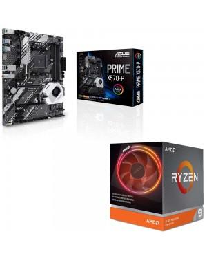 باندل مادربرد ایسوس PRIME X570-P + پردازنده ای ام دی RYZEN9 3900X