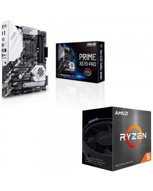 باندل مادربرد ایسوس PRIME X570-PRO + پردازنده باکس ای ام دی RYZEN 5 5600X