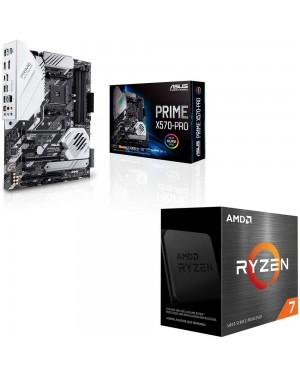 باندل مادربرد ایسوس PRIME X570-PRO + پردازنده ای ام دی RYZEN7 5800X