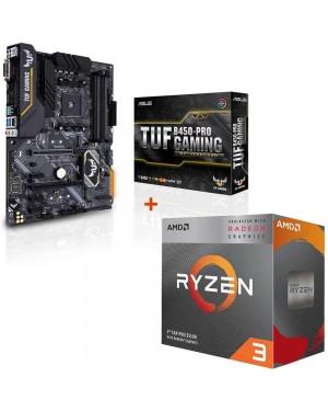 باندل مادربرد ایسوس TUF B450-PRO GAMING + پردازنده ای ام دی RYZEN3 3200G