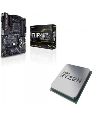 باندل مادربرد ایسوس TUF B450-PRO GAMING + پردازنده ای ام دی RYZEN5 3600X Tray