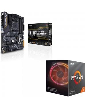 باندل مادربرد ایسوس TUF B450-PRO GAMING + پردازنده ای ام دی RYZEN7 3800X