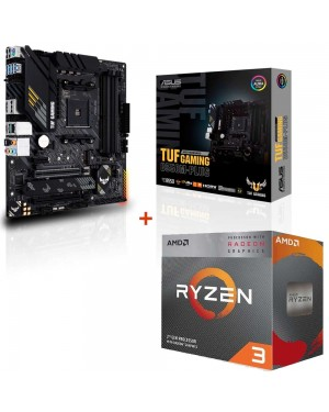 باندل مادربرد ایسوس TUF GAMING B550M-PLUS + پردازنده ای ام دی RYZEN3 3100