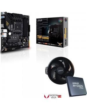 باندل مادربرد ایسوس TUF GAMING B550M-PLUS + پردازنده باکس ای ام دی RYZEN 3 4300GE TRAY