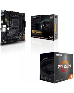 باندل مادربرد ایسوس TUF GAMING B550M-PLUS + پردازنده ای ام دی RYZEN5 5600X BOX