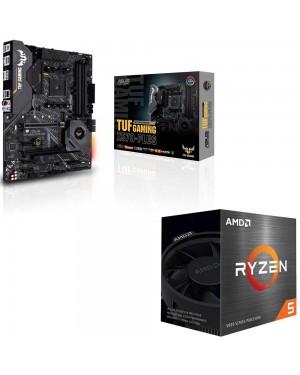 باندل مادربرد ایسوس TUF GAMING X570-PLUS + پردازنده باکس ای ام دی RYZEN 5 5600X