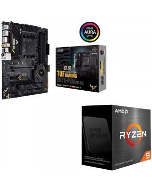 باندل مادربرد ایسوس TUF GAMING X570-PRO WI-FI + پردازنده باکس ای ام دی RYZEN 9 5900X