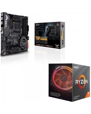 باندل مادربرد ایسوس TUF GAMING X570-PLUS + پردازنده ای ام دی RYZEN7 3700X