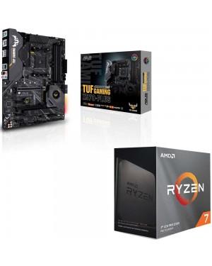 باندل مادربرد ایسوس TUF GAMING X570-PLUS + پردازنده ای ام دی RYZEN7 3800XT