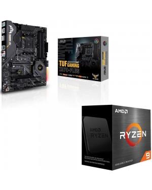 باندل مادربرد ایسوس TUF GAMING X570-PLUS + پردازنده ای ام دی RYZEN 9 5900X