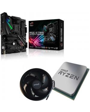 باندل مادربرد ایسوس ROG Strix X470-F Gaming + پردازنده ای ام دی RYZEN7 3800X همراه فن اورجینال AMD