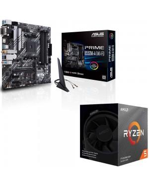 باندل مادربرد ایسوس PRIME B550M-A WI-FI + پردازنده ای ام دی RYZEN5 3600X BOX