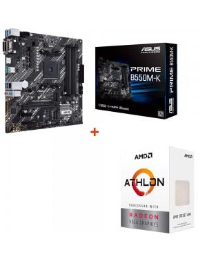 باندل مادربرد ایسوس PRIME B550M-K + پردازنده ای ام دی Athlon 3000G
