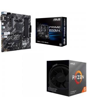 باندل مادربرد ایسوس PRIME B550M-K + پردازنده ای ام دی RYZEN5 3600X BOX
