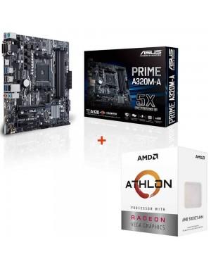 باندل مادربرد ایسوس PRIME A320M-A + پردازنده ای ام دی Athlon 3000G