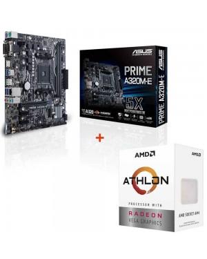 باندل مادربرد ایسوس PRIME A320M-E + پردازنده ای ام دی Athlon 3000G