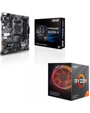 باندل مادربرد ایسوس PRIME A520M-A + پردازنده ای ام دی RYZEN7 3700X
