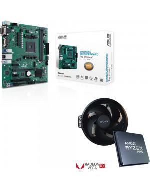 باندل مادربرد ایسوس PRIME A520M-C/CSM + پردازنده باکس ای ام دی RYZEN 5 PRO 4650G