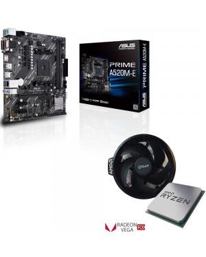 باندل مادربرد ایسوس PRIME A520M-E + پردازنده ای ام دی Ryzen 3 4300GE TRAY