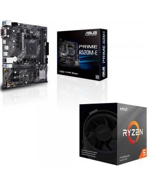 باندل مادربرد ایسوس PRIME A520M-E + پردازنده ای ام دی RYZEN5 3600XT