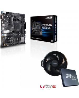 باندل مادربرد ایسوس PRIME A520M-E + پردازنده باکس ای ام دی RYZEN 5 PRO 4650G