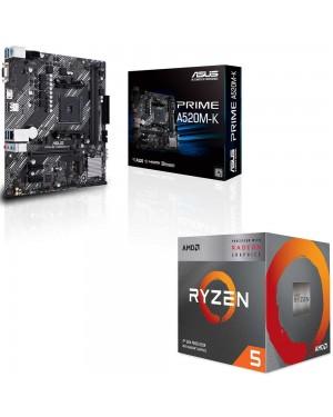باندل مادربرد ایسوس PRIME A520M-K + پردازنده ای ام دی RYZEN5 3400G